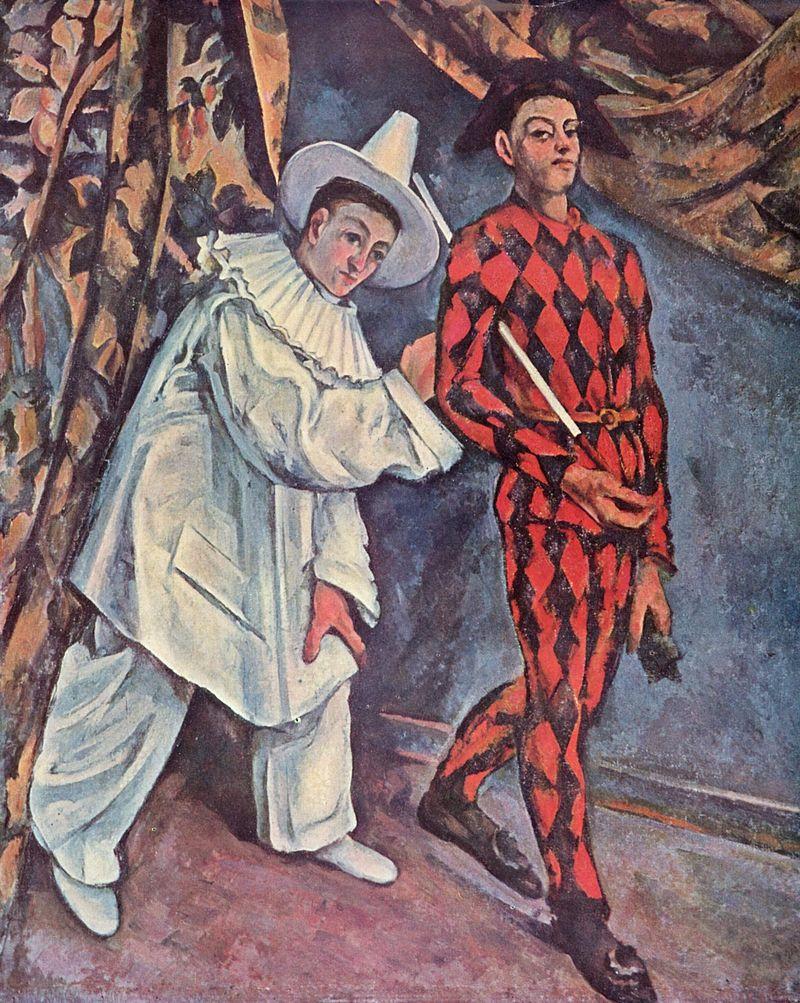 Cézanne - Pierrot et Harlequin