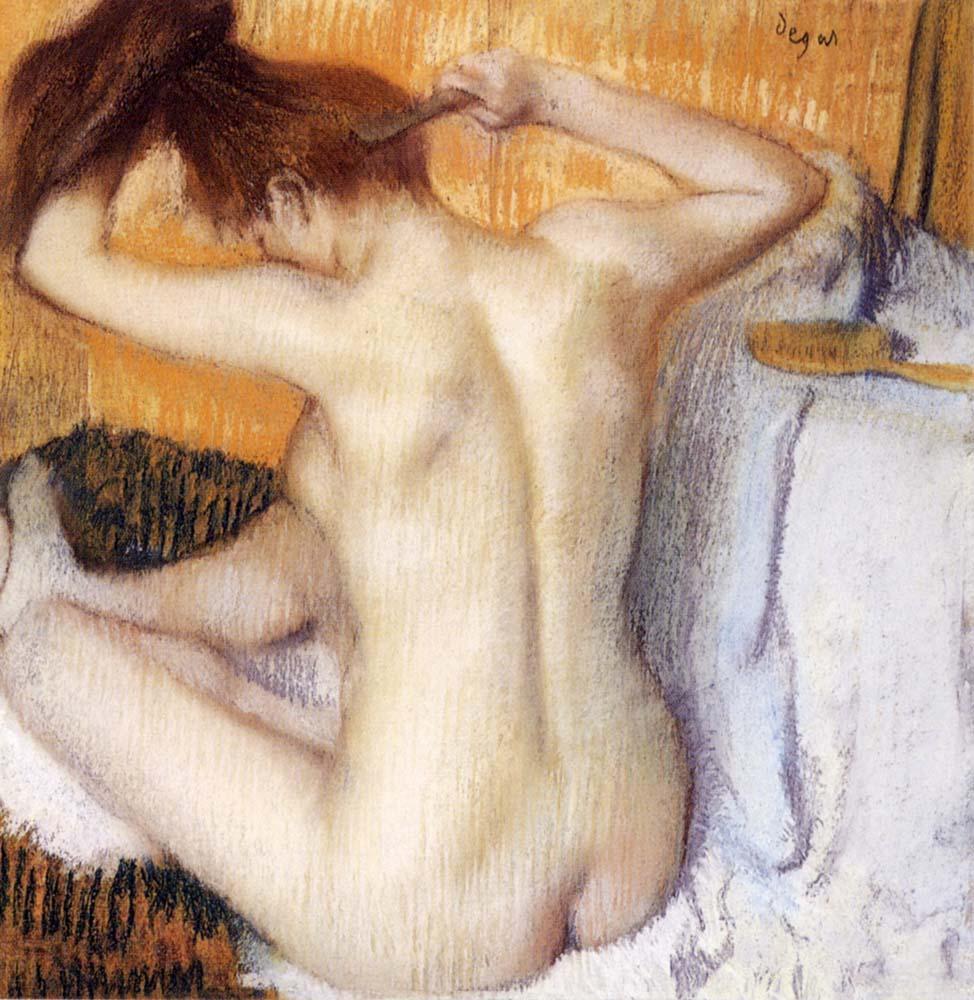 Degas Femme se peignant