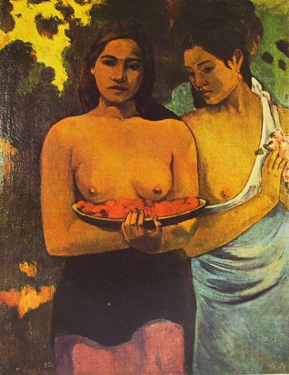 Gauguin - Deux femmes tahitiennes