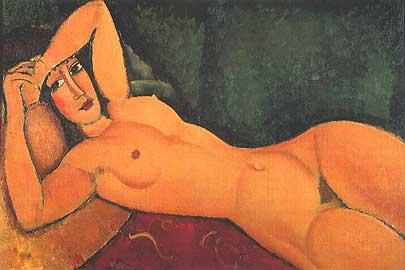 Modigliani - Nudo sdraiato