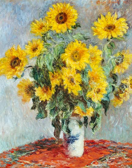 Monet Bouquet de tournesols