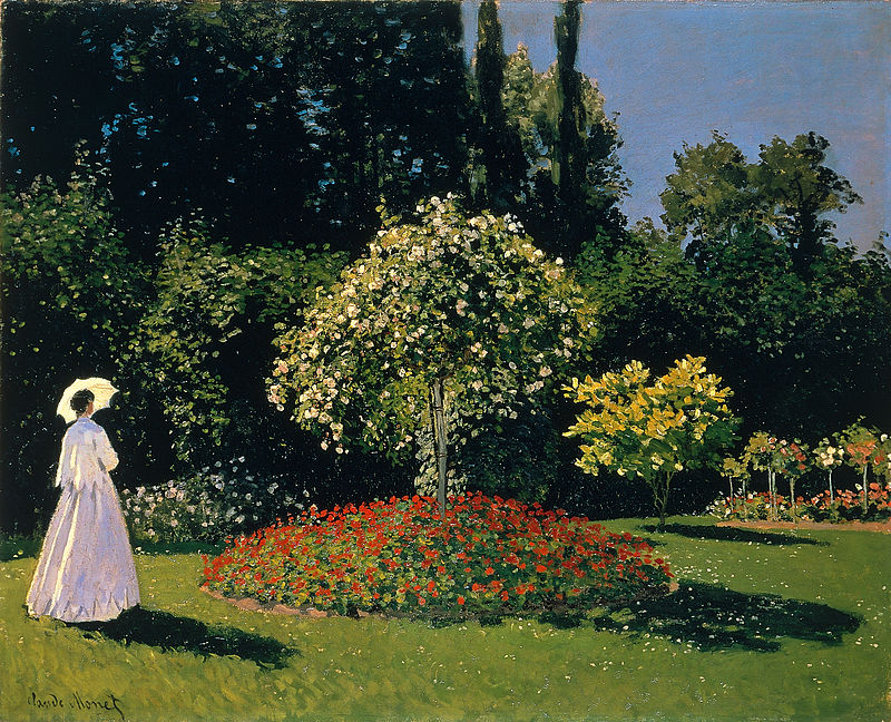 Monet - Dame dans le jardin