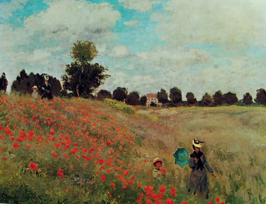 Monet - Les coquelicots à Argenteuil