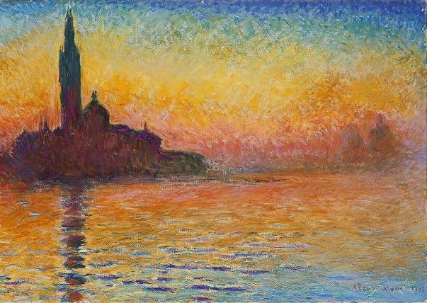 Monet - Saint-Georges-Majeur au crépuscule Venezia