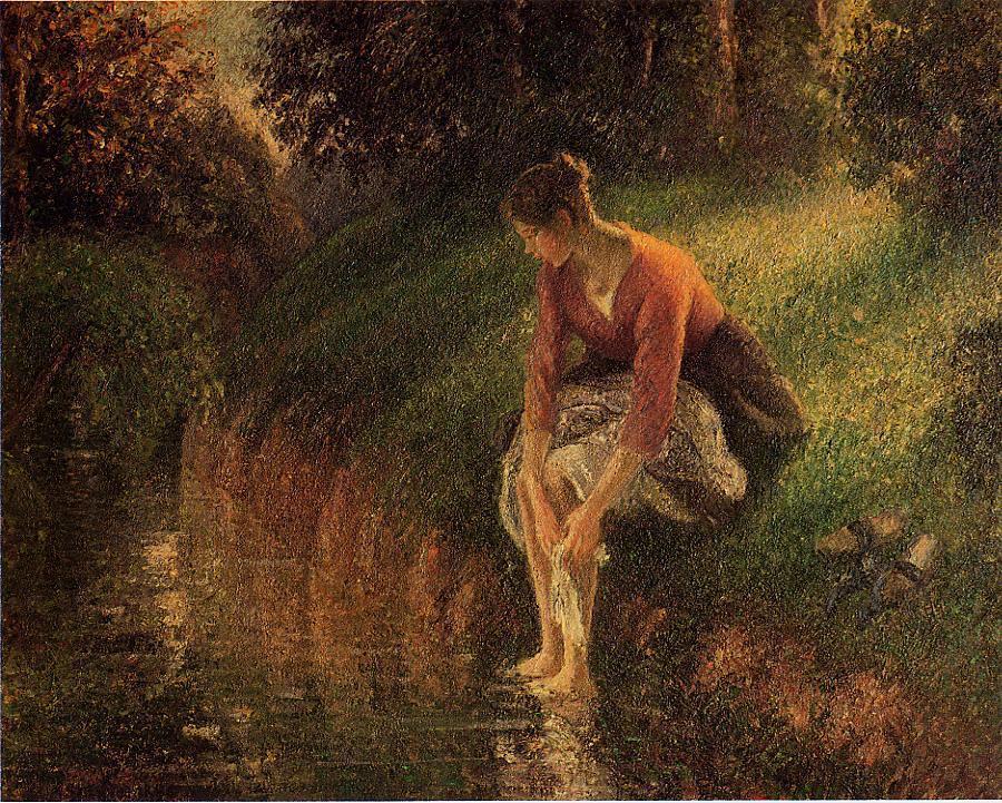 Pissarro Le bain de pied