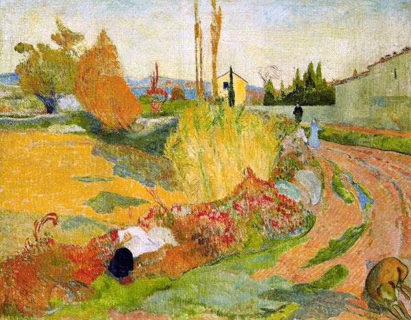 Gauguin - Paysage près d'Arles