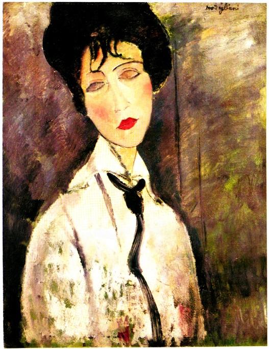Modigliani - Ritratto di donna con cravatta