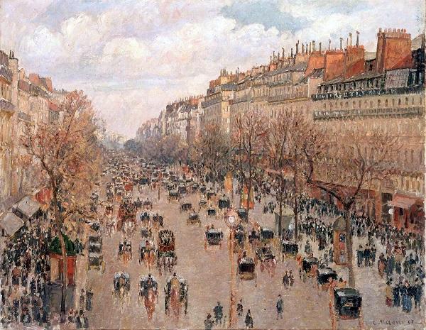 Pissarro - Le boulevard Montmartre à Paris.