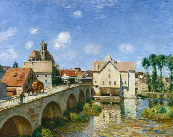 Sisley - Le pont de Moret